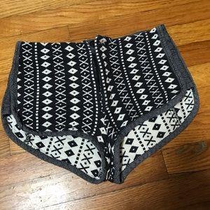 Grey antics aztec shorts size 6